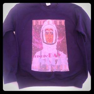 Kid cudi print sweatshirt small unisex